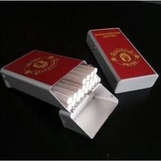 Belanja Online Tempat Kotak Rokok Kaleng Motif Timbul Barcelona Source · Kotak Tempat Rokok Plus Korek