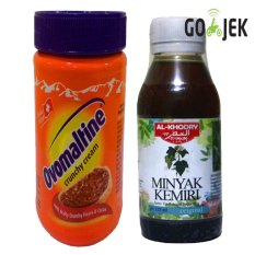Ovomaltine Crunchy Cream Spread - 400gr + AlKhodry Minyak Kemiri Penumbuh Rambut - 125ml