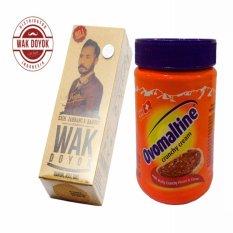 Ovomaltine Crunchy Cream Spread - 400gr +  Wak Doyok Cream Original Hologram
