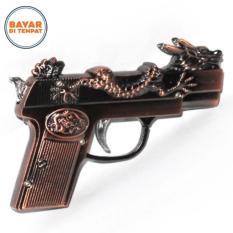 Pemantik Api Model Pistol Mancis Lighter Korek Api dengan Laser - Bronze