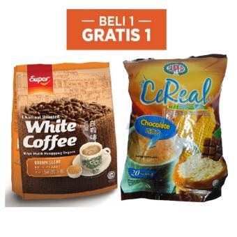 Super White Coffee Brown Sugar 15's 450Gr Free Super CeReal