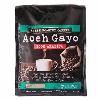 Sentra Kopi - Aceh Gayo Arabica Whole Bean / Biji Kopi Roasted Arabika 500 Gram