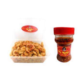 Udang Crispy & Sambal Bu Rudy Khas Surabaya - Udang Besar (1) +Sambal Bajak - 1 botol