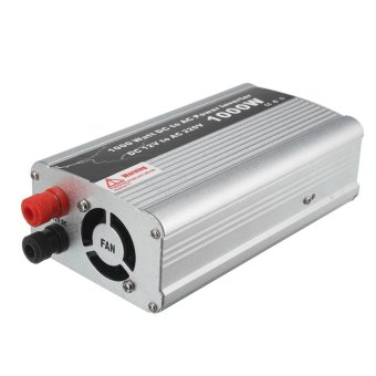 1000W DC 12V to AC 220V Car Power Inverter Charger Converter for Electronic USB (Silver)