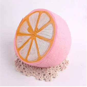 11CM Jumbo Squishy lemon Soft kawaii Cute fruit Slow Rising Decoration charm Scented Bread Cake kid