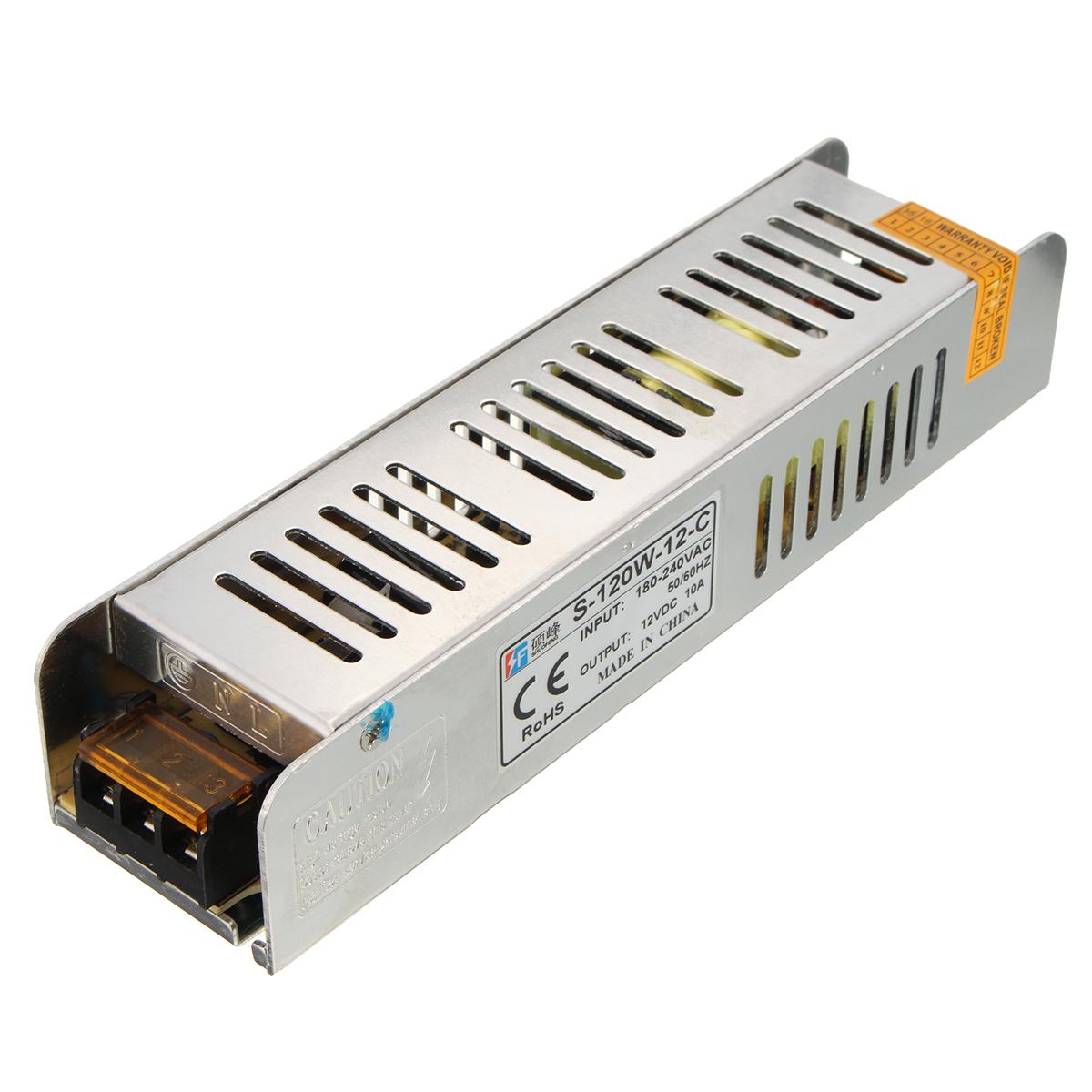 12 V 10 Amp 120 Watt Saklar Catu Daya Trafo Driver Lampu LED Strip .
