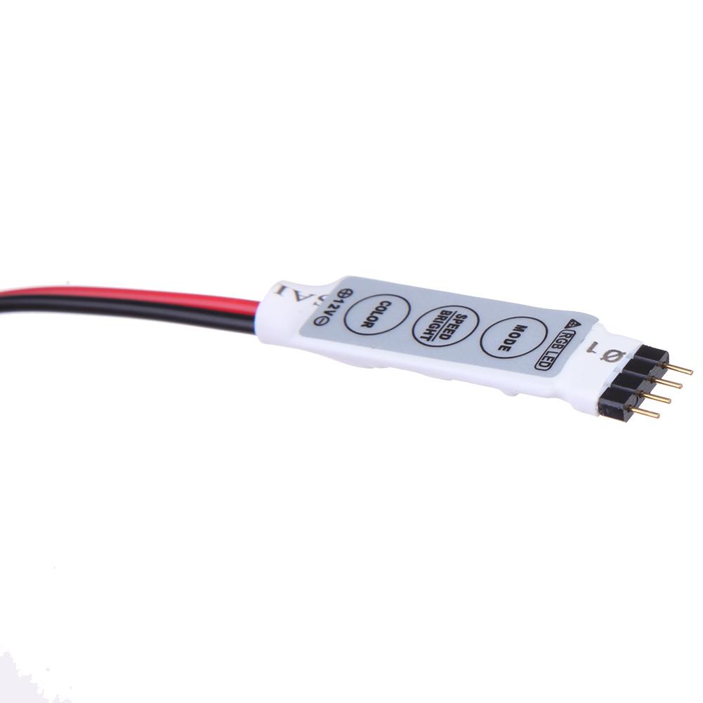 Allwin 24 Suara Musik Kunci Remote Kontrol Ir Sensitif Untuk Lampu Source · 14 cm 12 V 3 mini untuk kabel kunci Pengendali Lampu Strip RGB 1buah