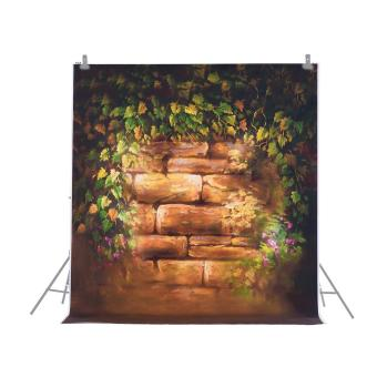 1.5 * 2m/4.9 * 6.5ft Photography Background Backdrop Computer Printed Flower Brick Pattern for Children Kid Baby Newborn Pet Photo Studio Portrait Shooting Outdoorfree - intl