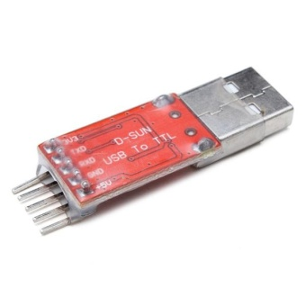 1pcs New USB 2.0 to TTL UART Module 5pin Serial Converter CP2102 STC 5pin cables Red