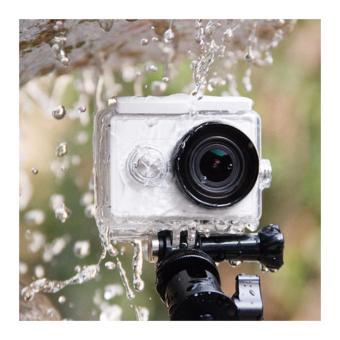1Shop WaterProof Case for Xiaomi Yi Action Camera + Tripod Mount +Helmet Mount
