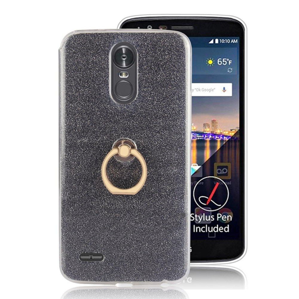 2 in 1 Glitter Bling Prints Flexible Soft TPU Protective Case Cover with .