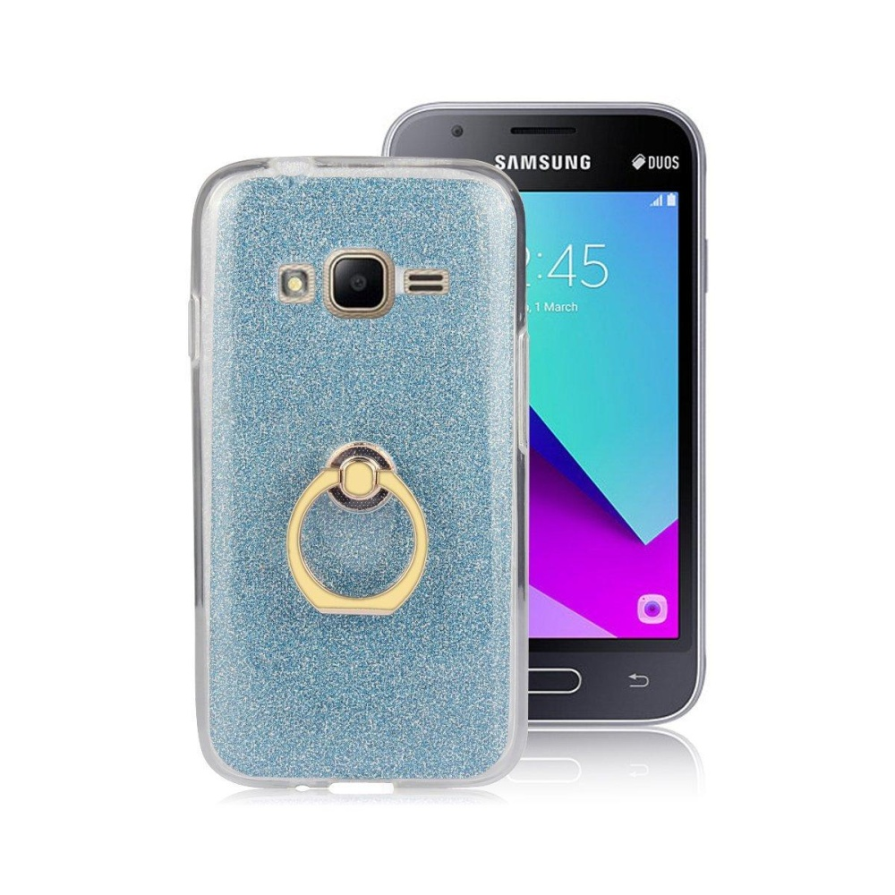 2 in 1 Glitter Bling Prints Flexible Soft TPU Protective Case Coverwith Ring .