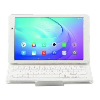 2 In 1 Huawei Mediapad T2 10.0 Pro Fdr-A03l DetachableBluetoothkeyboard + Horizontal Flip Leather Case With Holder(White)- intl