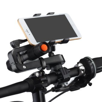harga 2 in 1 Multifunctional Bike Phone Mount Cell Phone Bicycle RackHandlebar Flashlight Holder with Mini Outdoor Strong Light LampHandheld Flashlight Torch for iPhone 7 6S Samsung Galaxy S3 S4 S5S6 S7 Note 3 4 5 LG HTC Smartphone Lazada.co.id