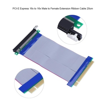 20cm / 7.87inch PCI-E Express16x to 16x Male to Female RiserExtender Card Ribbon Cable - intl