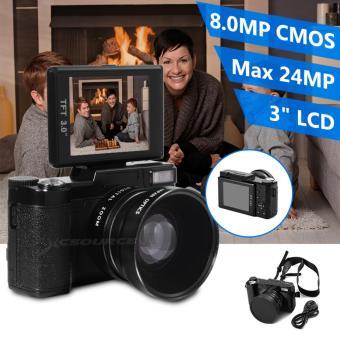 24 megapiksel kamera digital FHD 1080P video 3 inci LCD camcorder dengan lensa sudut lebar LF748