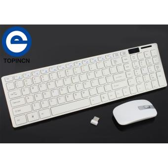 2.4G Optical Wireless Keyboard and Mouse Mice USB Receiver ComboKit for MAC PC Computer White - intl