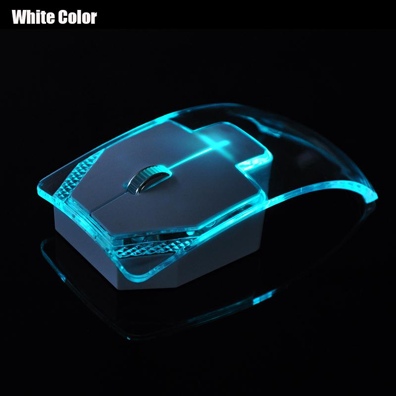2.4G Wireless Mouse Silent Gamer Transparent LED Ultra-thin 1000DPIGlow in the Dark Gaming