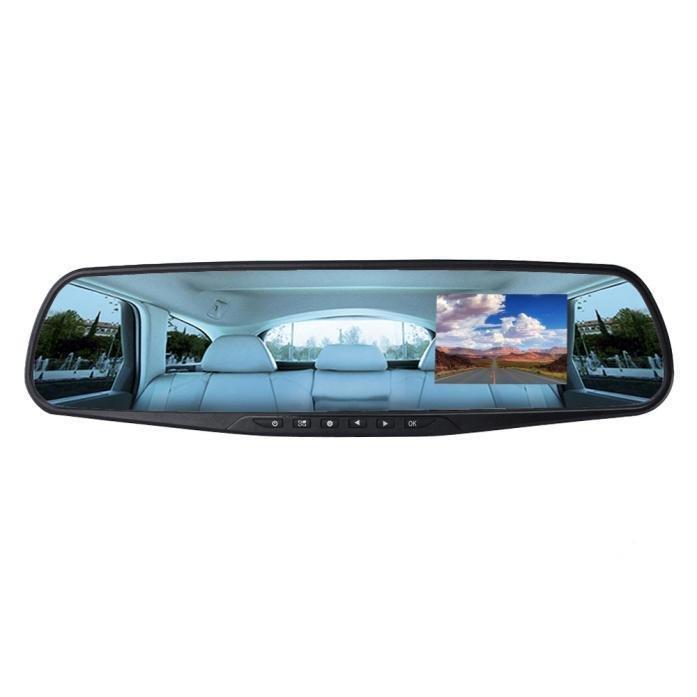 2.8 HD penuh 1080P DVR kaca cermin mobil otomatis kamera perekamvideo cam dasbor Biru