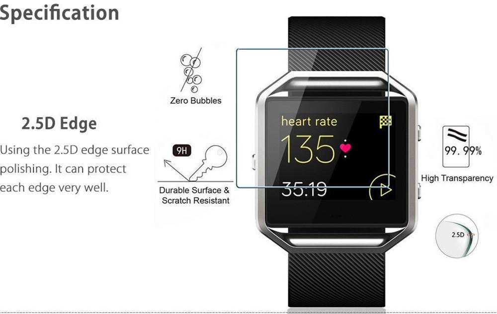 ... Samsung Gear S3 Source · 2Pc 9H Premium Real Tempered Glass Screen Protector For FitbitBlaze Smart Watch