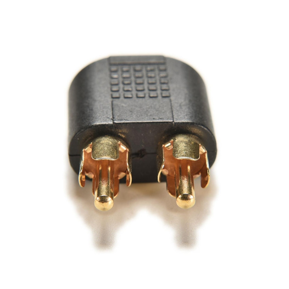 2pcs Top Gold Plated 3.5mm Female Stereo To 2 Rca Male Audio .