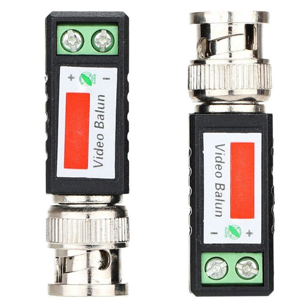 ... 2Pcs Velishy CAT5 CCTV Camera Passive BNC Video Balun to UTPConnector Transceiver