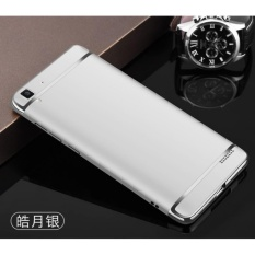 3 In 1 Ultra Thin and Slim Hard Case Shockproof Electroplate Framefor OPPO R7S(silver