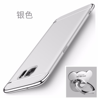 3 in 1 Ultra thin PC with Bear ring hard cover case phone case forSamsung Galaxy S6 edge plus(Silver) - intl