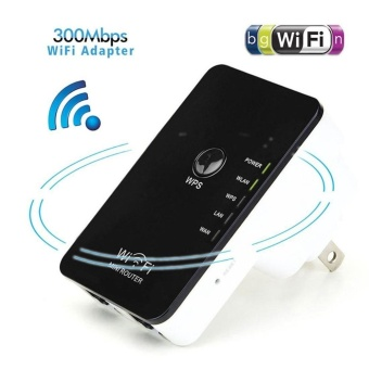 300Mbps Mini Wireless Wifi Router Repeater with WPS Range SignalExtender Booster Black and White(USA) - intl