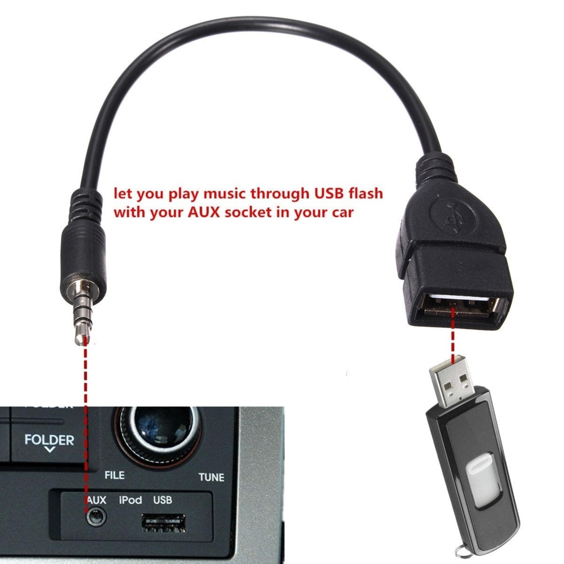 3,5 mm Audio Jack Male tambahan untuk USB 2,0 .
