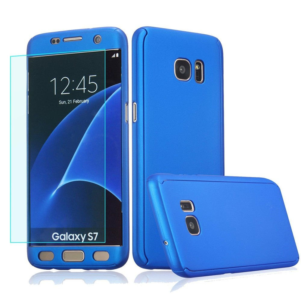 ... 360 Degree All-around Full Body Slim Fit Lightweight HardProtective Skin Case Cover with Tempered ...
