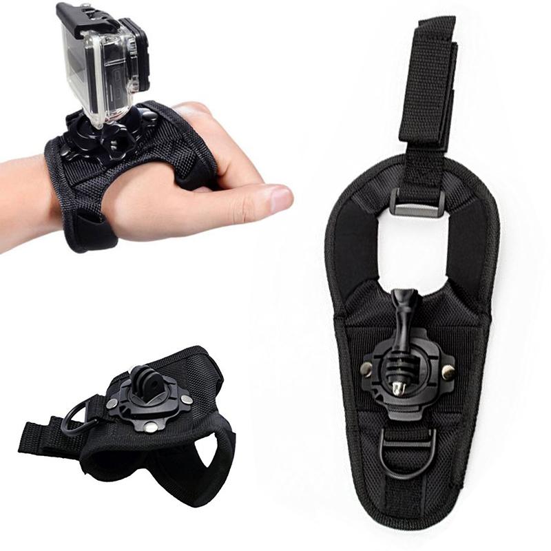 360 Degree Rotation Glove Wrist Band Hand Strap Belt Tripod MountFor GoPro Hero .