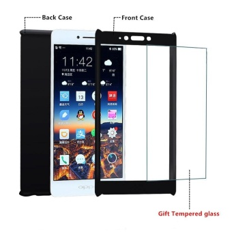 360 Full Body Coverage Protection Hard Slim Ultra-thin Hybrid Case Cover & Skin with Tempered Glass Screen Protector for OPPO R7s - intl - 4