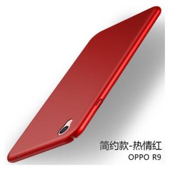 360 matte ultra tipis PC hard menutupi case untuk Oppo F1 Plus (R9 (merah)