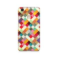 3D Dicetak Kembali Cover untuk IPhone 5/5 S Oleh Motivatebox. Warna-warni Pola Cek Desain, Polikarbonat Hard Case dengan Kualitas Premium dan Matte Finish-Intl