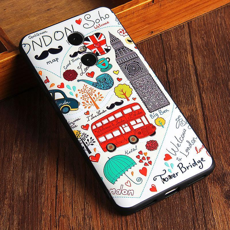 Flash Sale 3D Embossed Matting Silicone/ TPU Phone Case / Antifalling/Shockproof Phonecase /Phone Protector for Xiaomi Redmi Note4/ Xiaomi Redmi ...