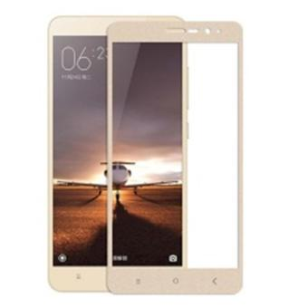 3D Full Cover Tempered Glass Warna Screen Protector for Xiaomi Redmi Note 3 / Note 3 Pro - Gold