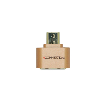 4Connect Micro USB Flash Disk OTG Converter Adapter for Android- Bronze