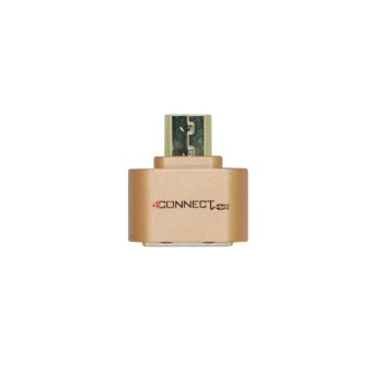 4Connect Mini USB Flash Disk OTG Converter Adapter for Android-Bronze