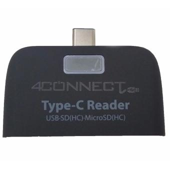 4Connect USB 3.1 Type C Card Reader Connection Kit For Type C PhoneAnd PC - Black