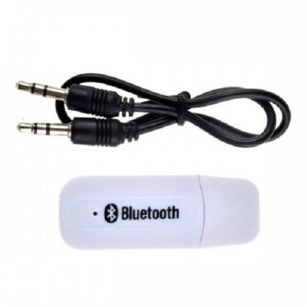 4Connect USB Bluetooth 3.5mm Stereo Audio Music Receiver Adapter For Speaker White