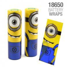 4PCS Battery Wrap Minions Pelindung Baterai 18650 Batre Vape Cover PVC