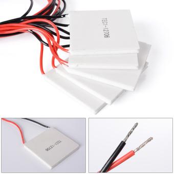... 5 x TEC1-12706 Heatsink Pendingin Termoelektrik Piring PeltierModul 12 V 60 Watt TE220 ...