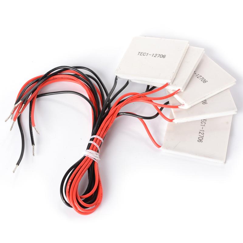 5 x TEC1 12706 Heatsink Pendingin Termoelektrik Piring PeltierModul 12 V 60 Watt TE220