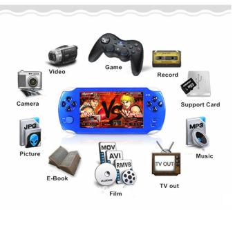 Harga 5.1-Inch 8G PSP Game Player 10000 Free Games Handheld GBA Consoles= MP3/MP4/MP5/FM/Camera (Blue) - intl