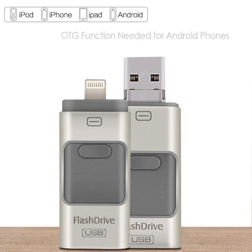 512GB 3 in 1 mini metal Usb Pen Drive Otg Flash Drive For .