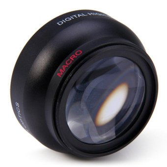 52mm 0.45X High Definition Fisheye Wide Angle Macro Lens for NikonD3200 D3100 D5200(Black)(OVERSEAS) - intl