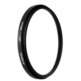 58 mm sinar UV Ultra Violet filter untuk lensa pelindung Canon Nikon DSLR kamera - 2