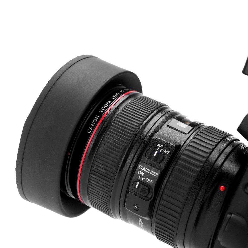 58MM Altura Photo Collapsible Rubber Lens Hood For Canon Rebel T5i700D 650D 600D 550D 500D 450D