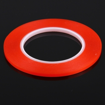 5mm 3M Double Sided Adhesive Sticker Tape for iPhone / Samsung /HTC Mobile Phone Touch Screen Repair, Length: 25m(Red)